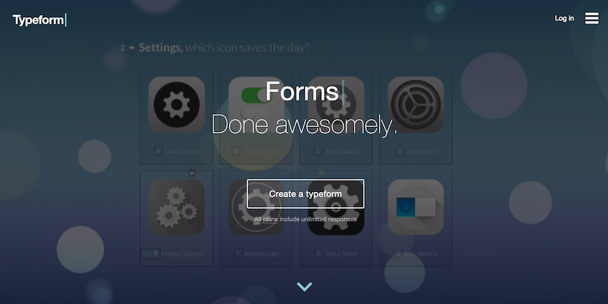 Forms Done Awesomely Typeform