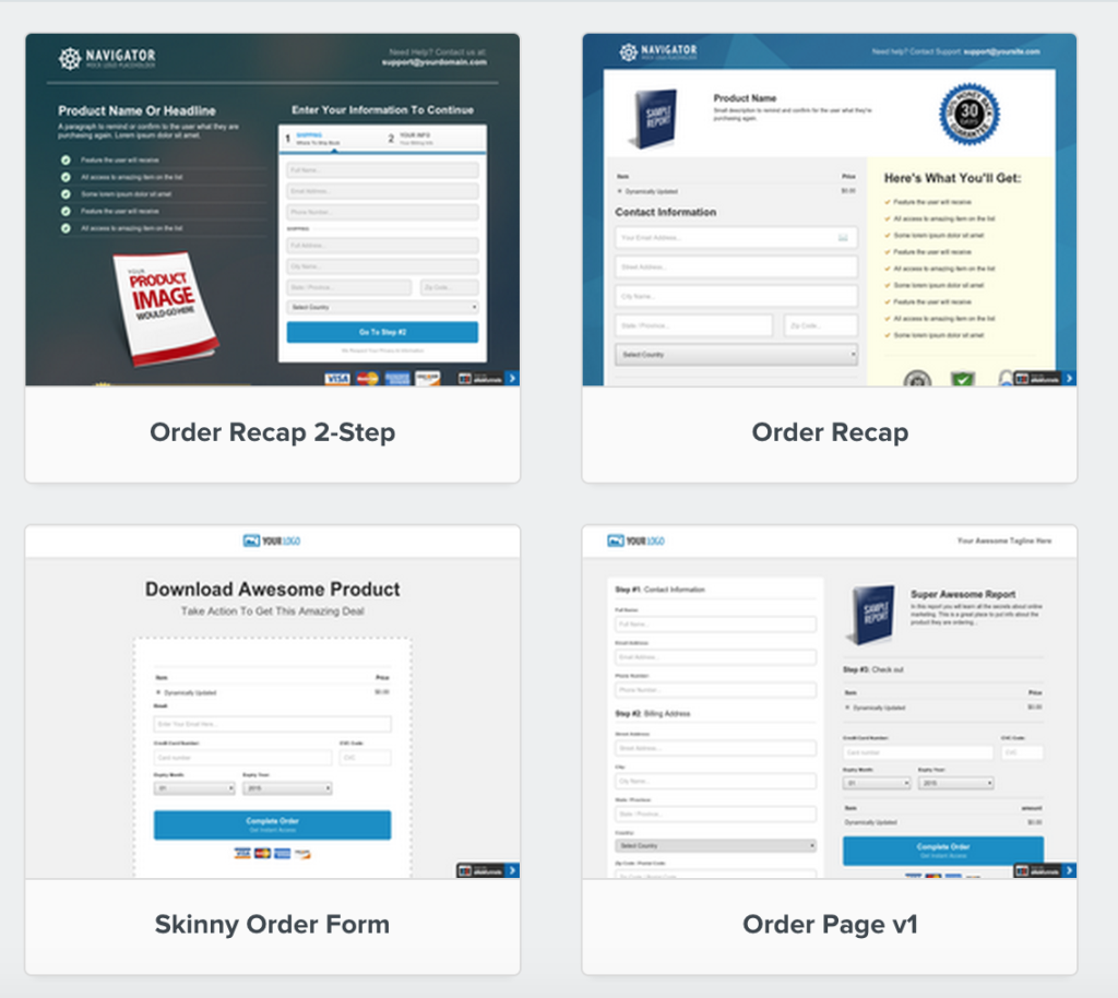 Order Pages