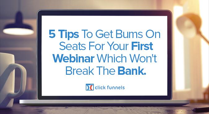 bums on seats webinar