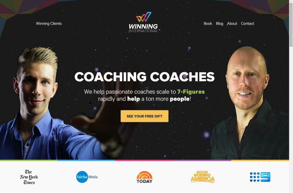 Winning Coaches 7 figure coaching program front page