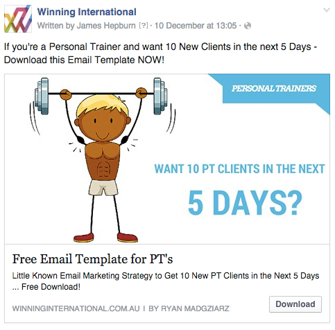 Winning International Facebook Advert copy for Clickfunnels
