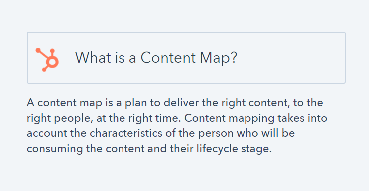 content map