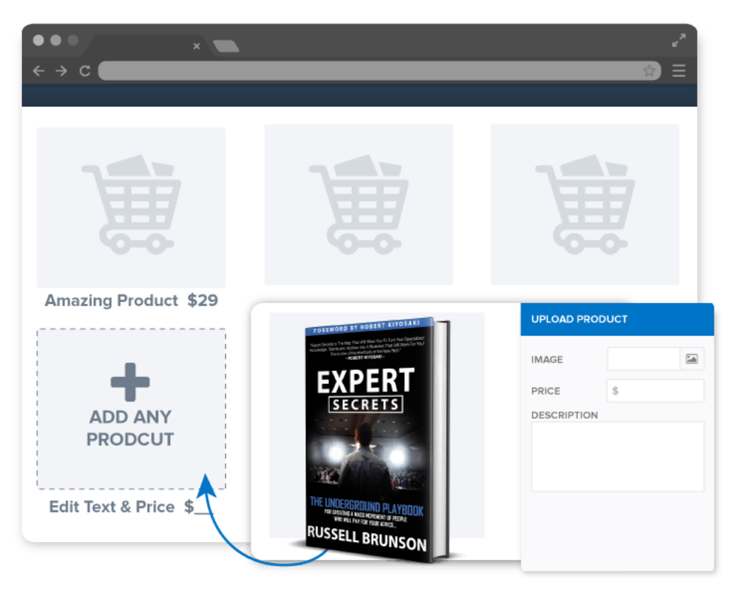 ClickFunnels Easy Shopping Cart Feature
