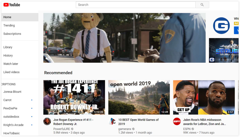 YouTube Homepage Screenshot | ClickFunnels