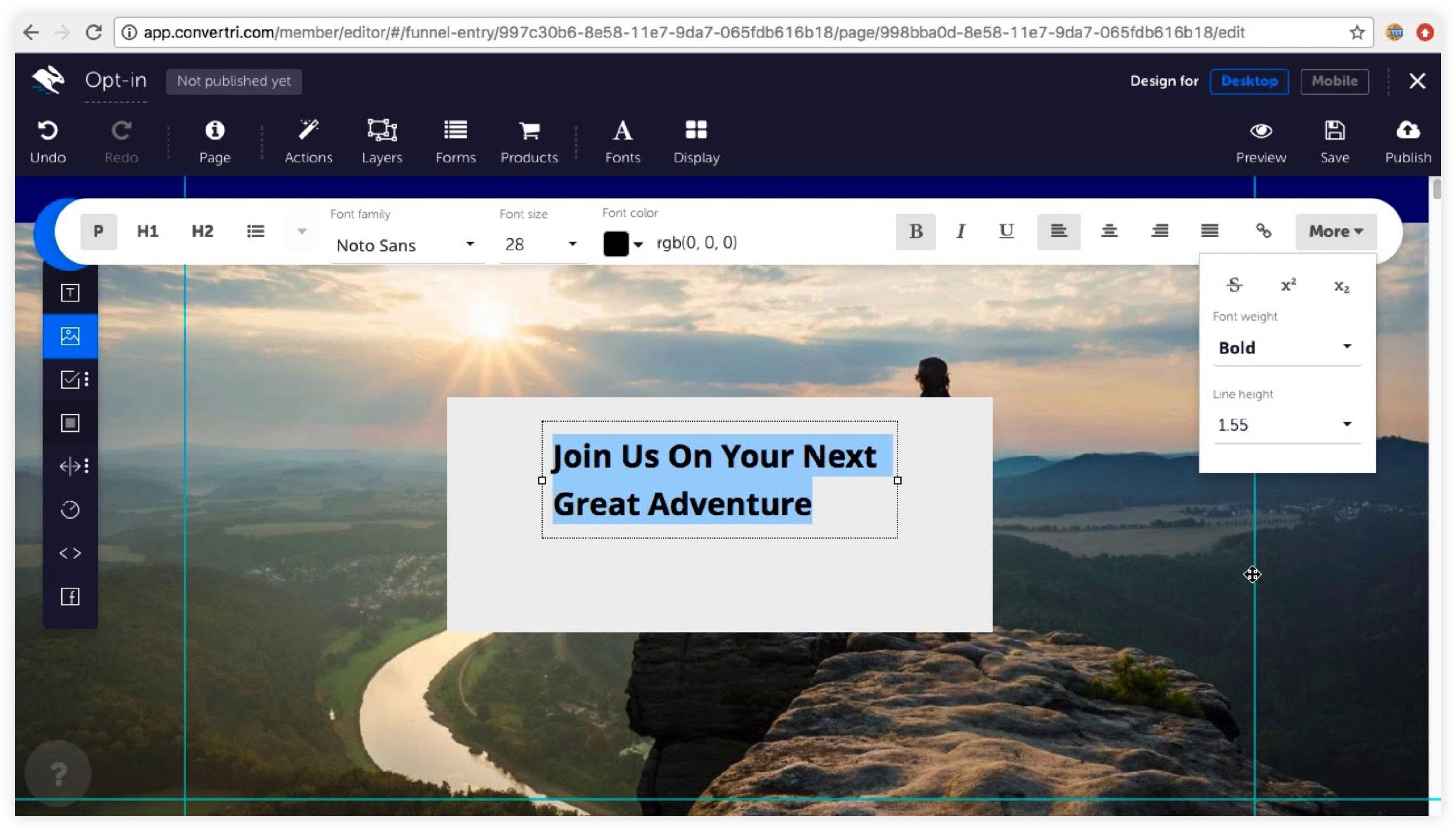 Convertri Free-Form Funnel Editor