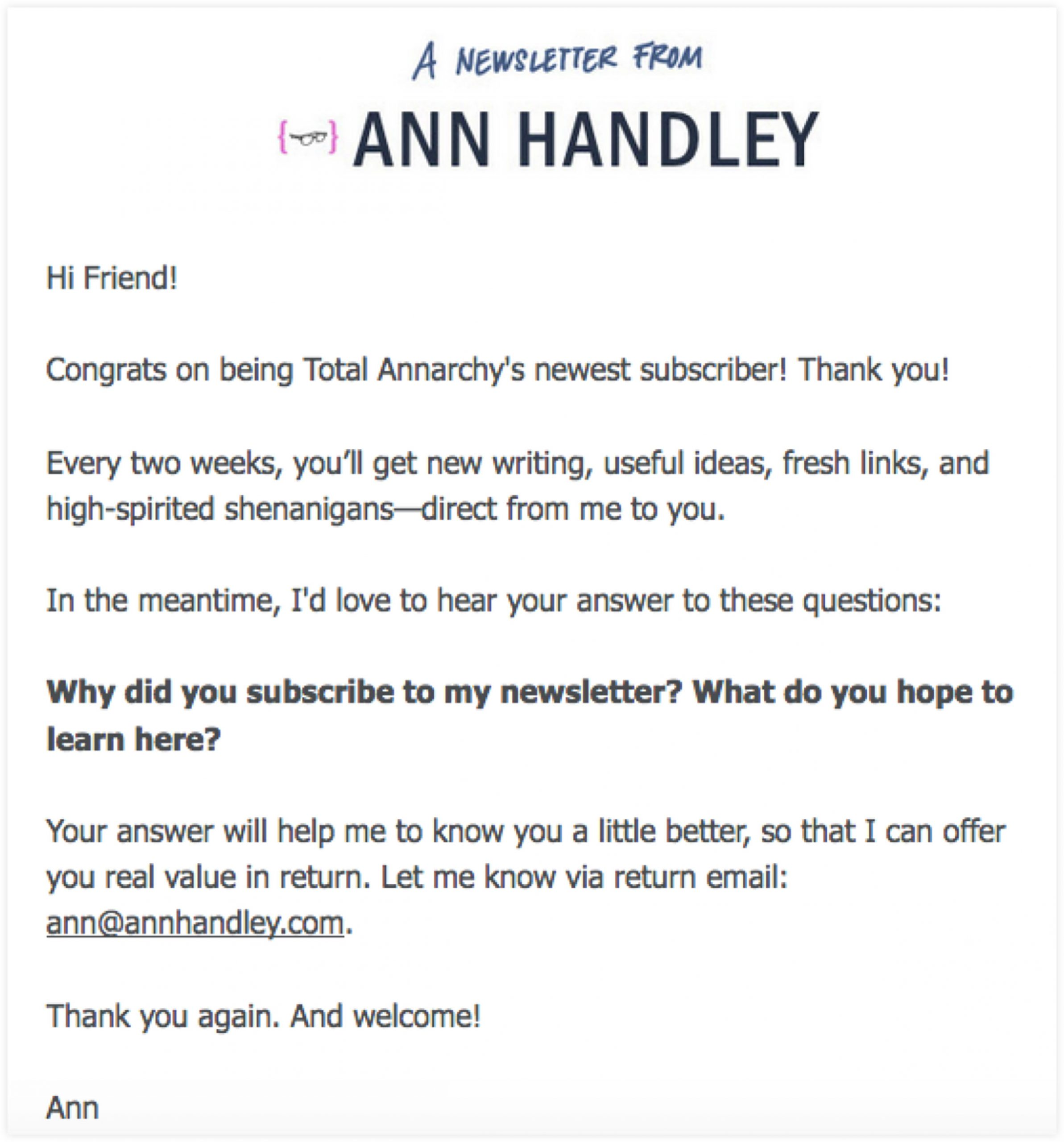 Survey Email Template | ClickFunnels