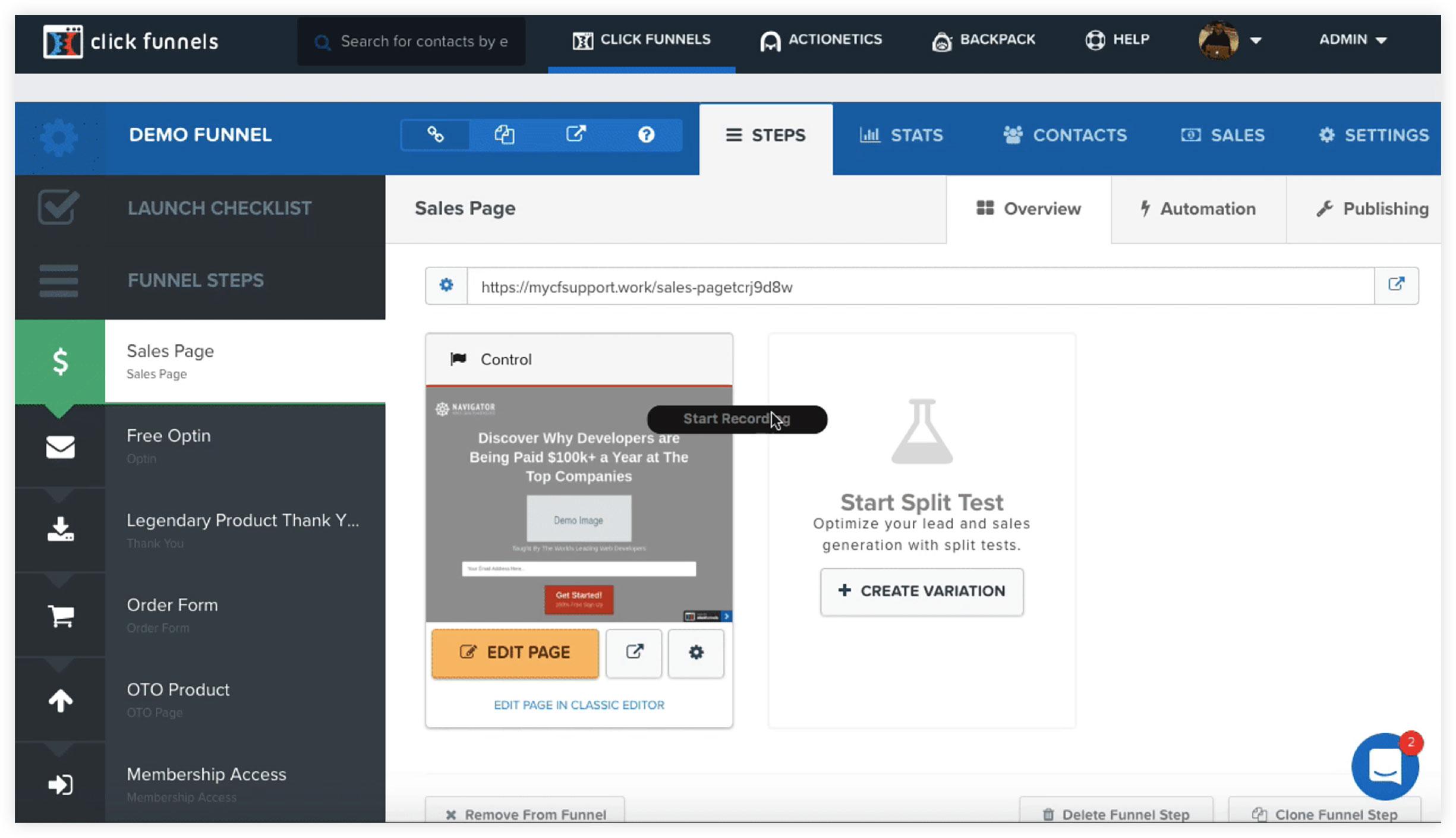 ClickFunnels Conversion Tracking