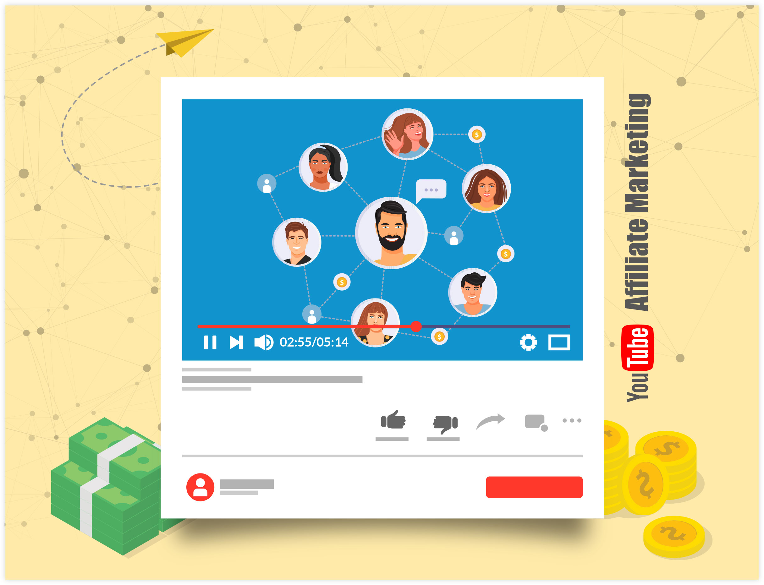 YouTube Affiliate Marketing Illustration