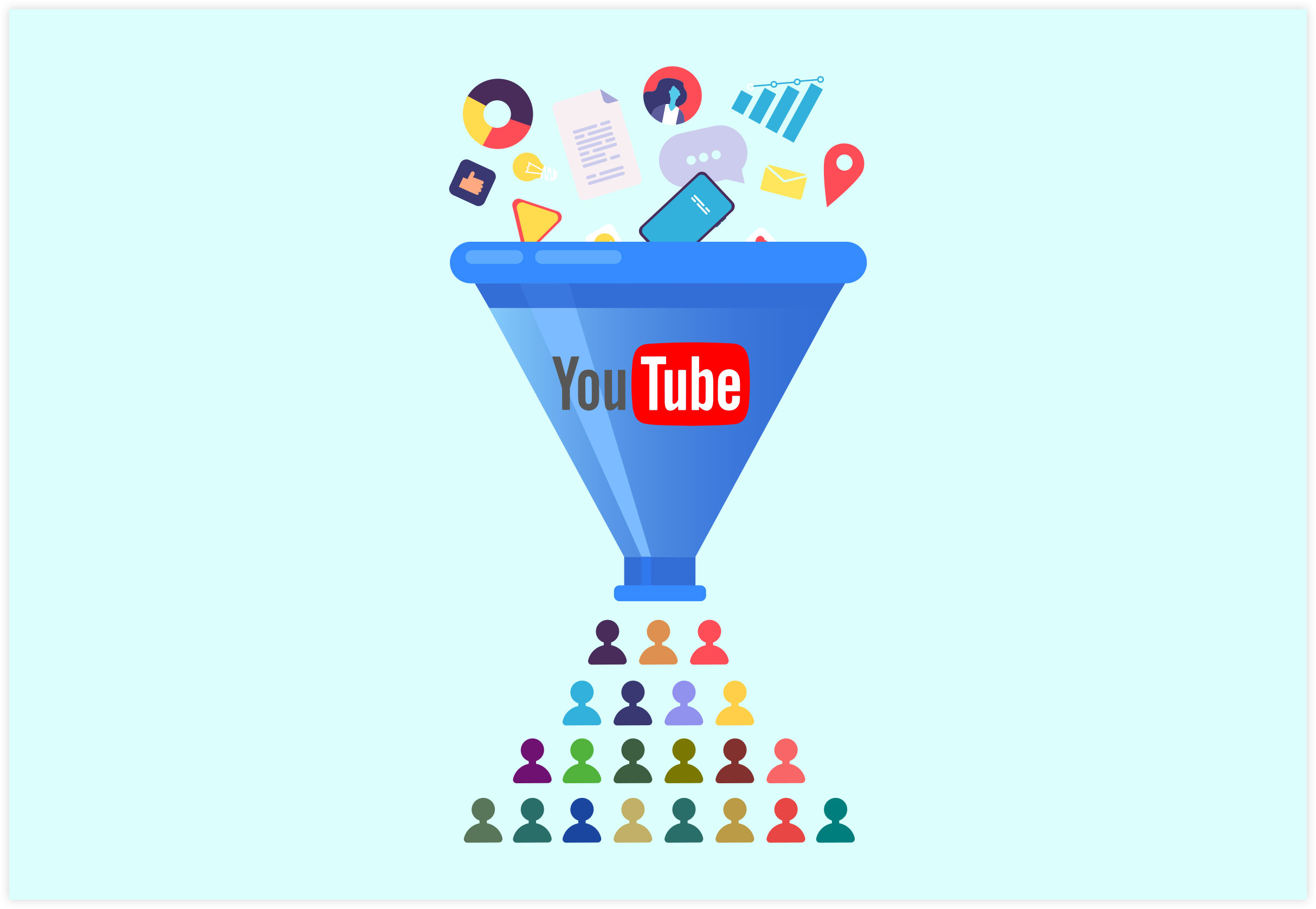 YouTube Organic Funnel Traffic Illustration
