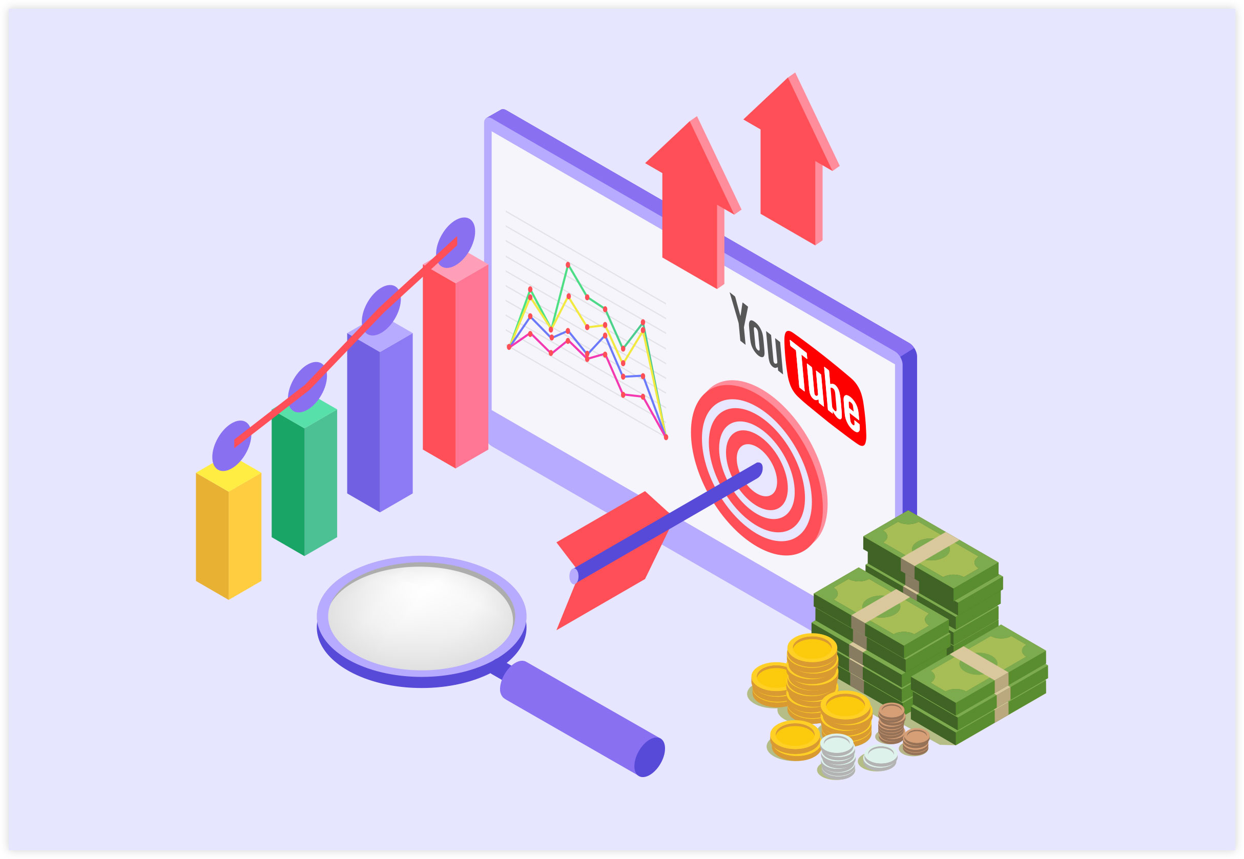 YouTube Marketing - Video SEO Strategy Illustration