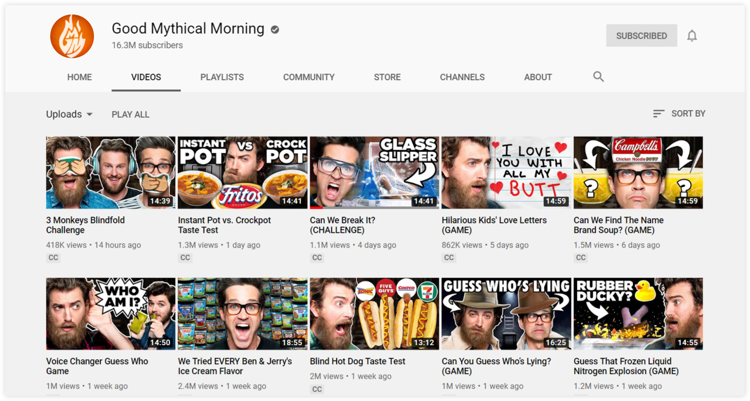 Good Mythical Morning YouTube Channel