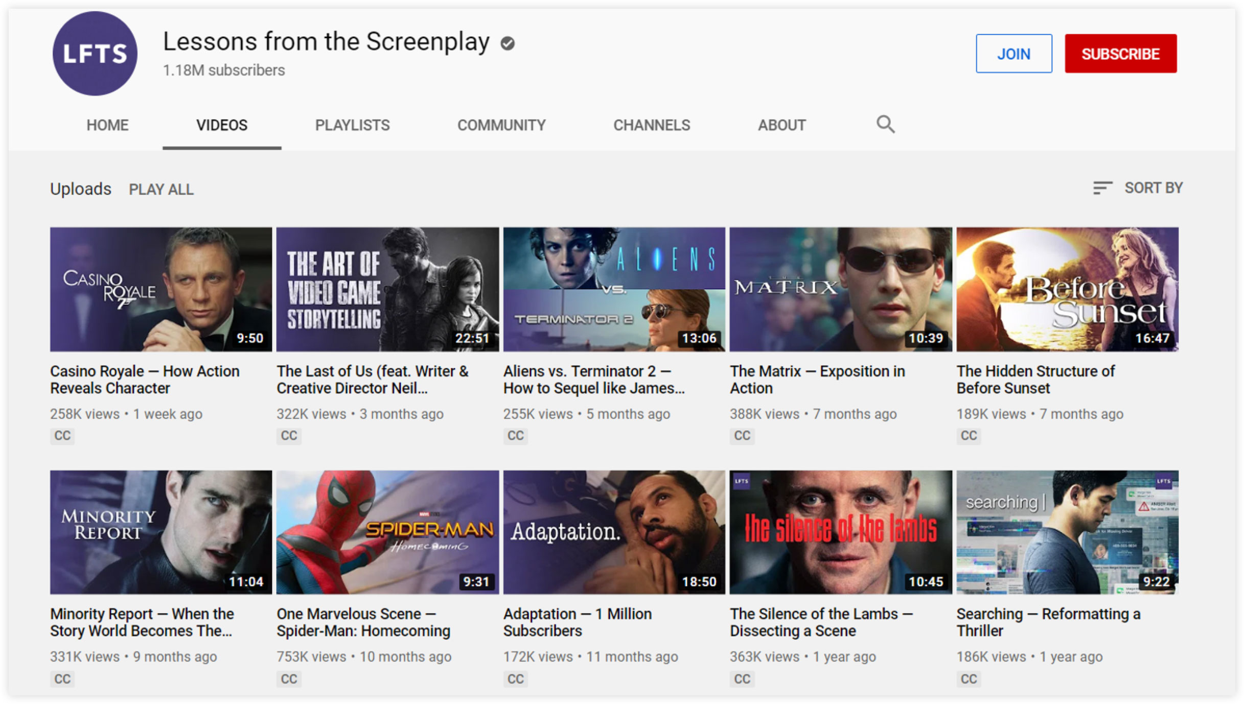 Lessons from the Screenplay YouTube Channel
