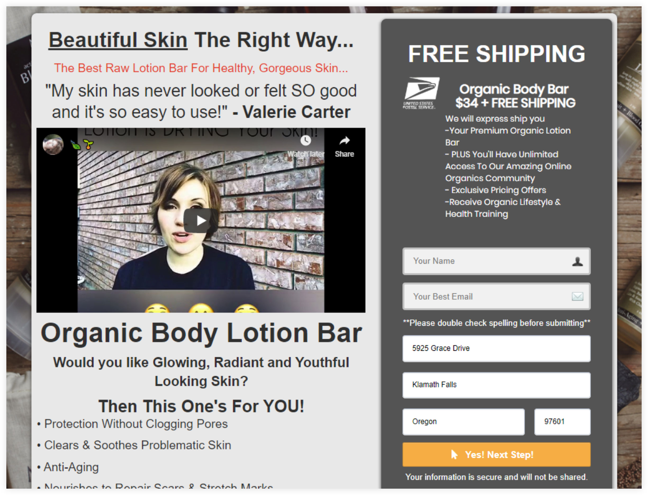 High-converting Landing Page Example for eCommerce