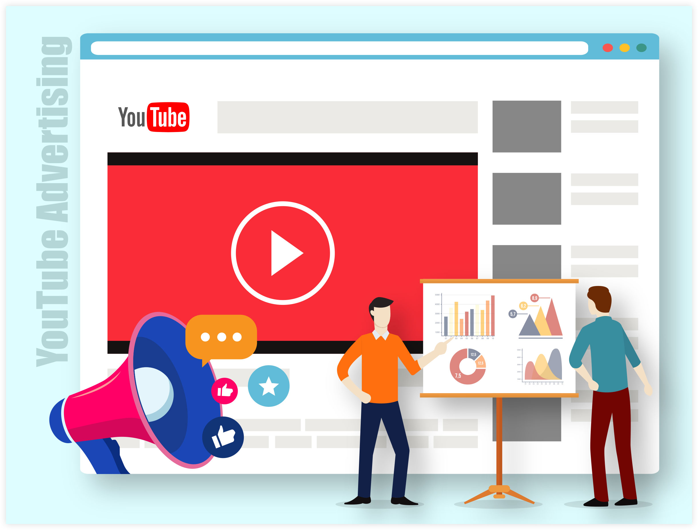 YouTube Advertising Illustration