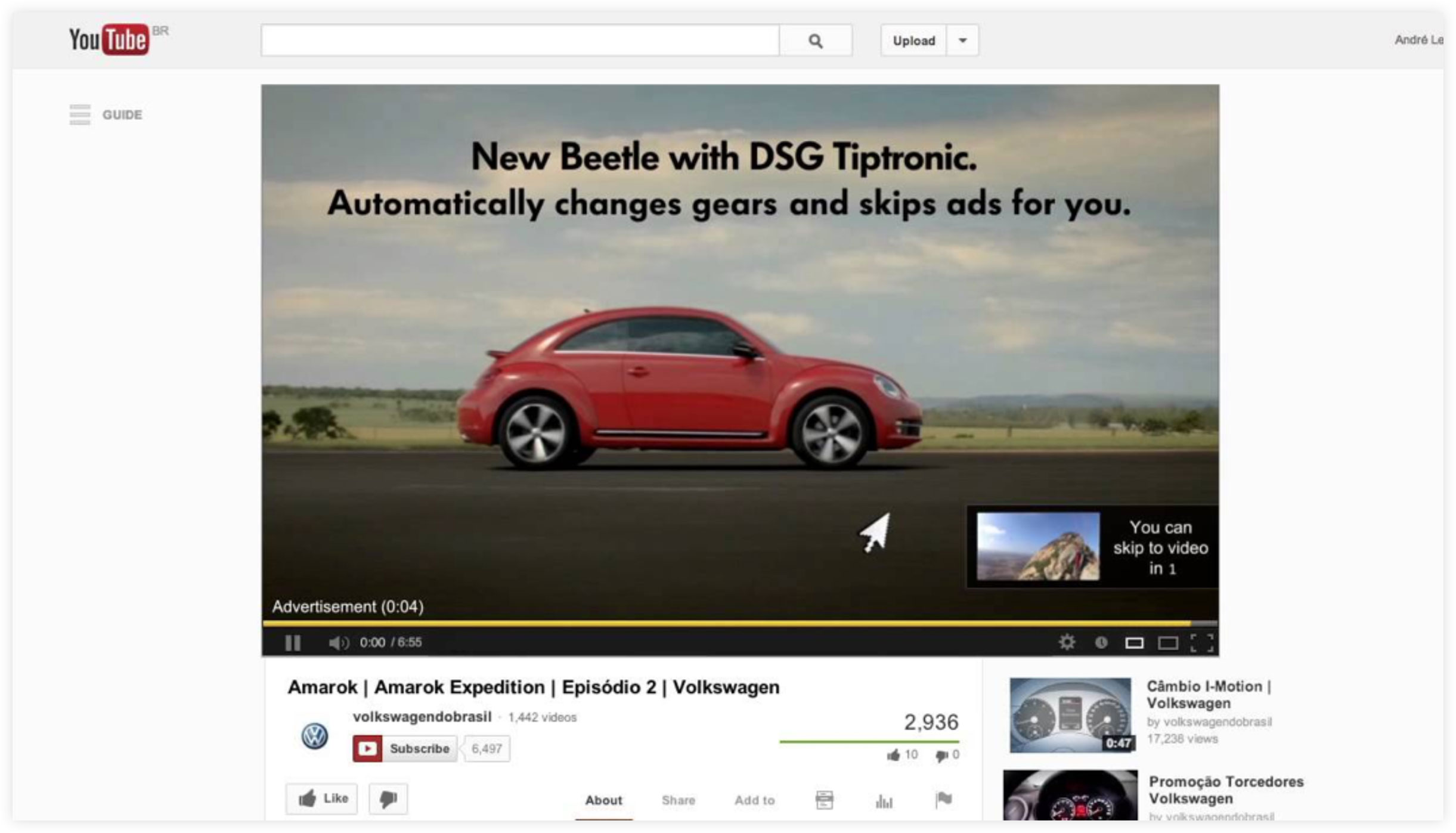 Example of effective YouTube Video Advertising