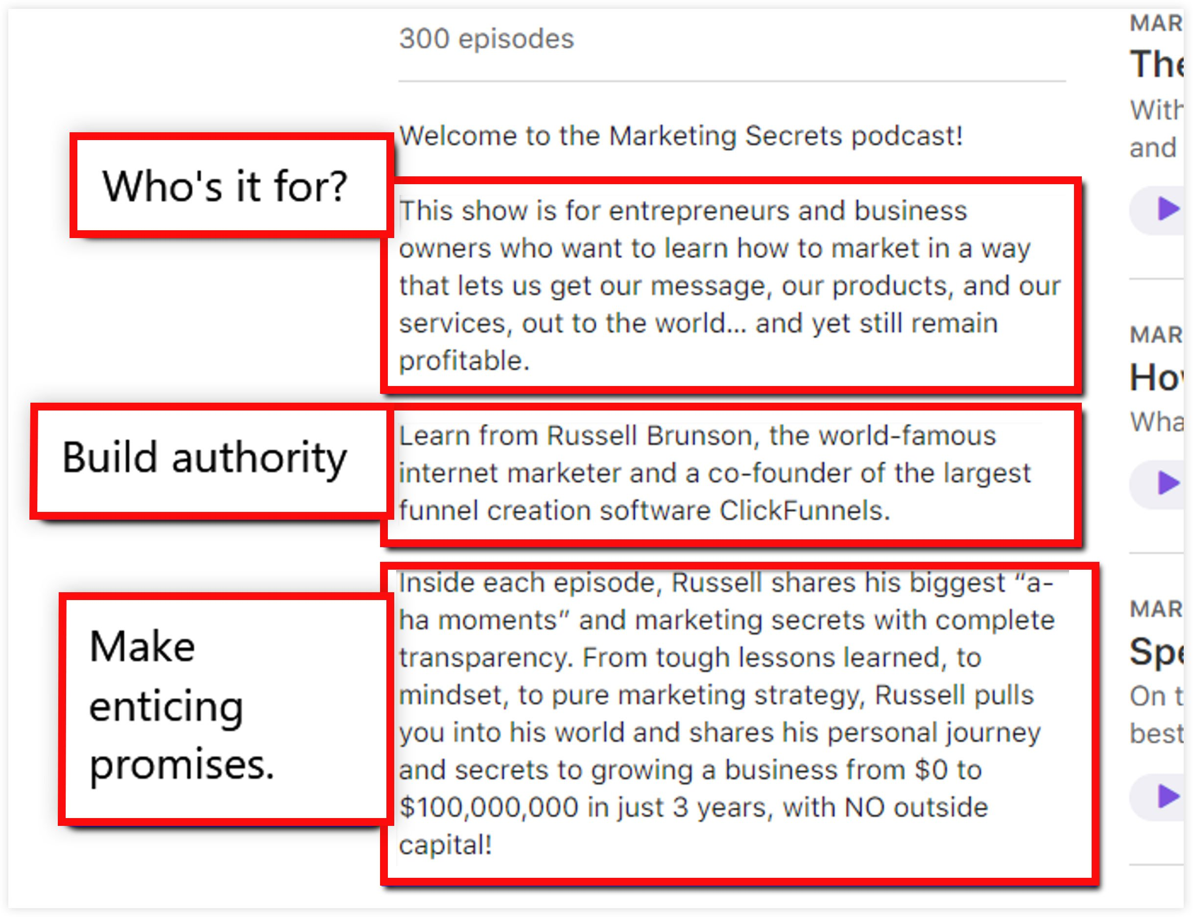 Effective Podcast Title and Description Example