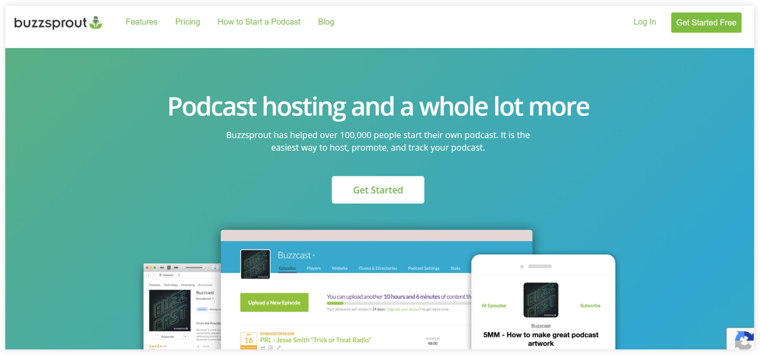 Buzsprout Podcast Hosting Software