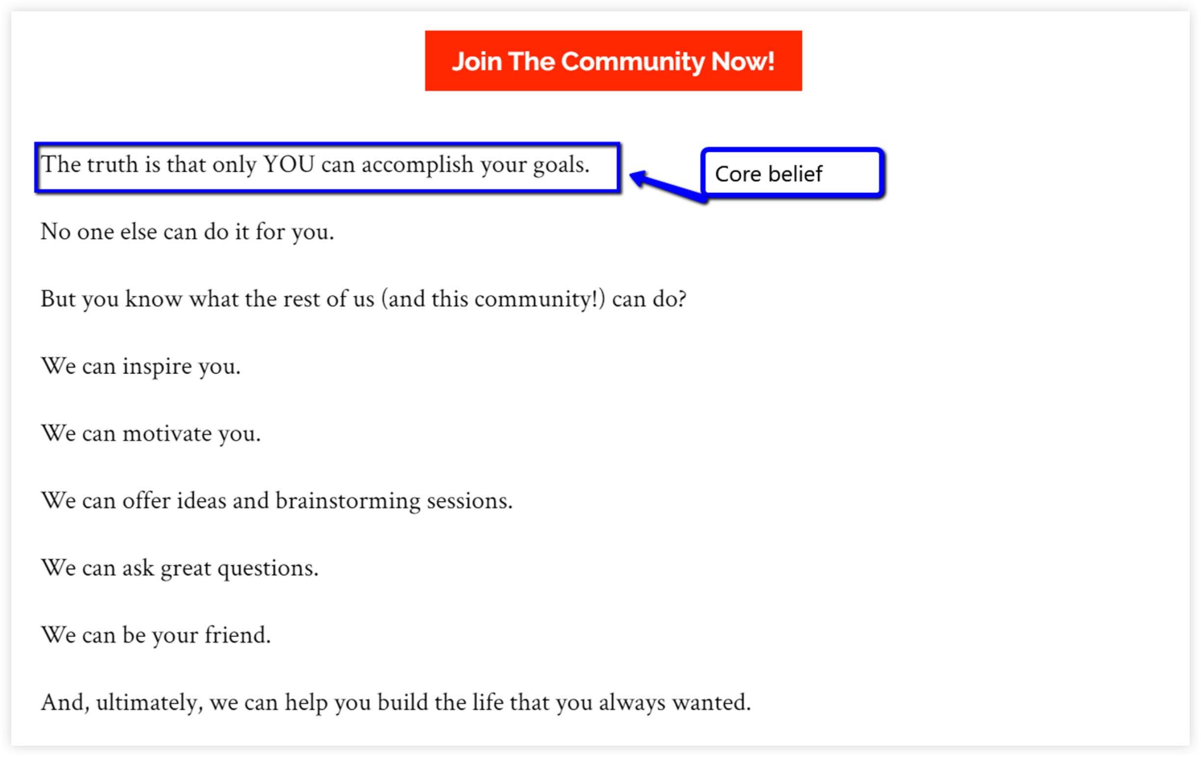 Example of Effective Website Copy