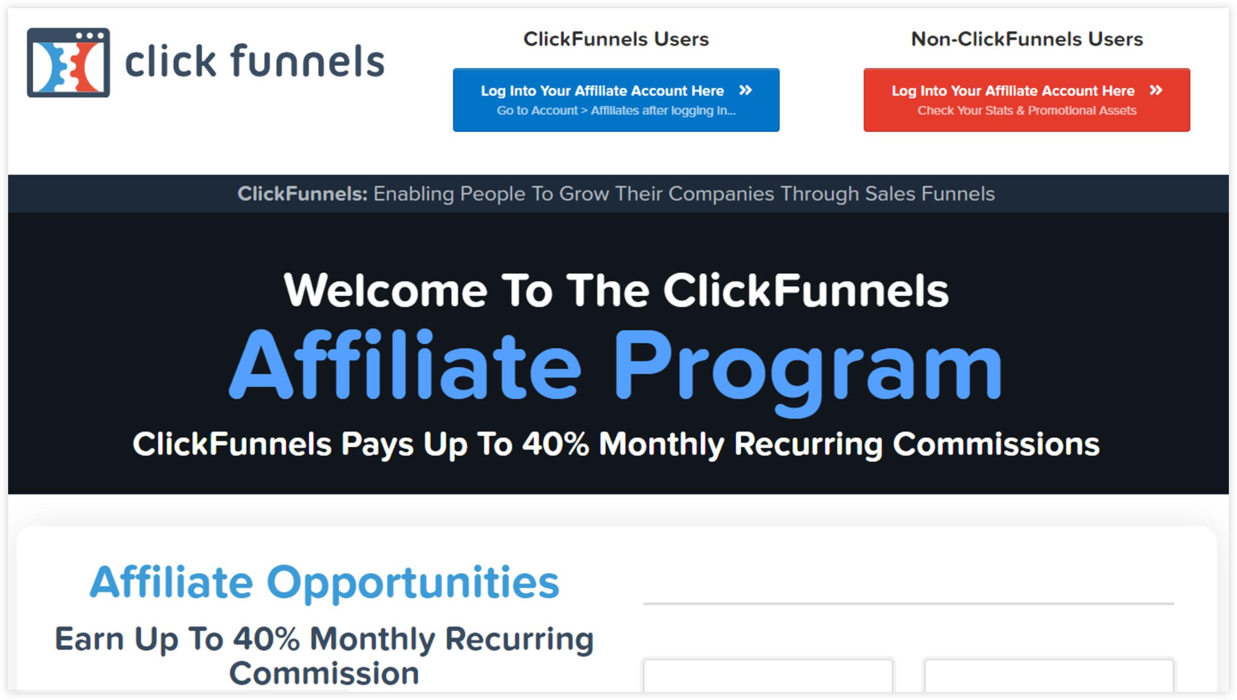 Affiliate Marketplace - ClickFunnels