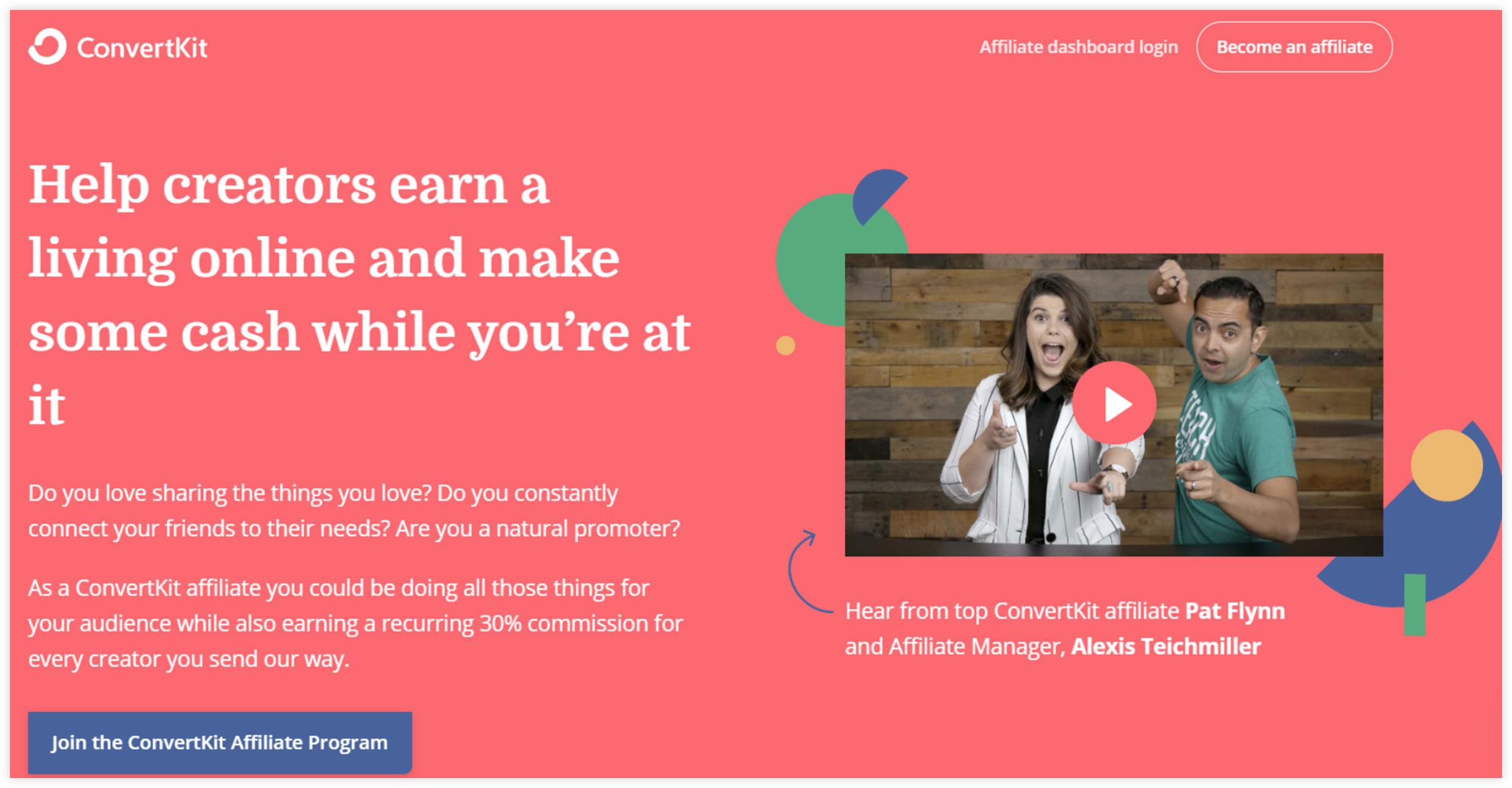 Affiliate Marketplace - ConvertKit
