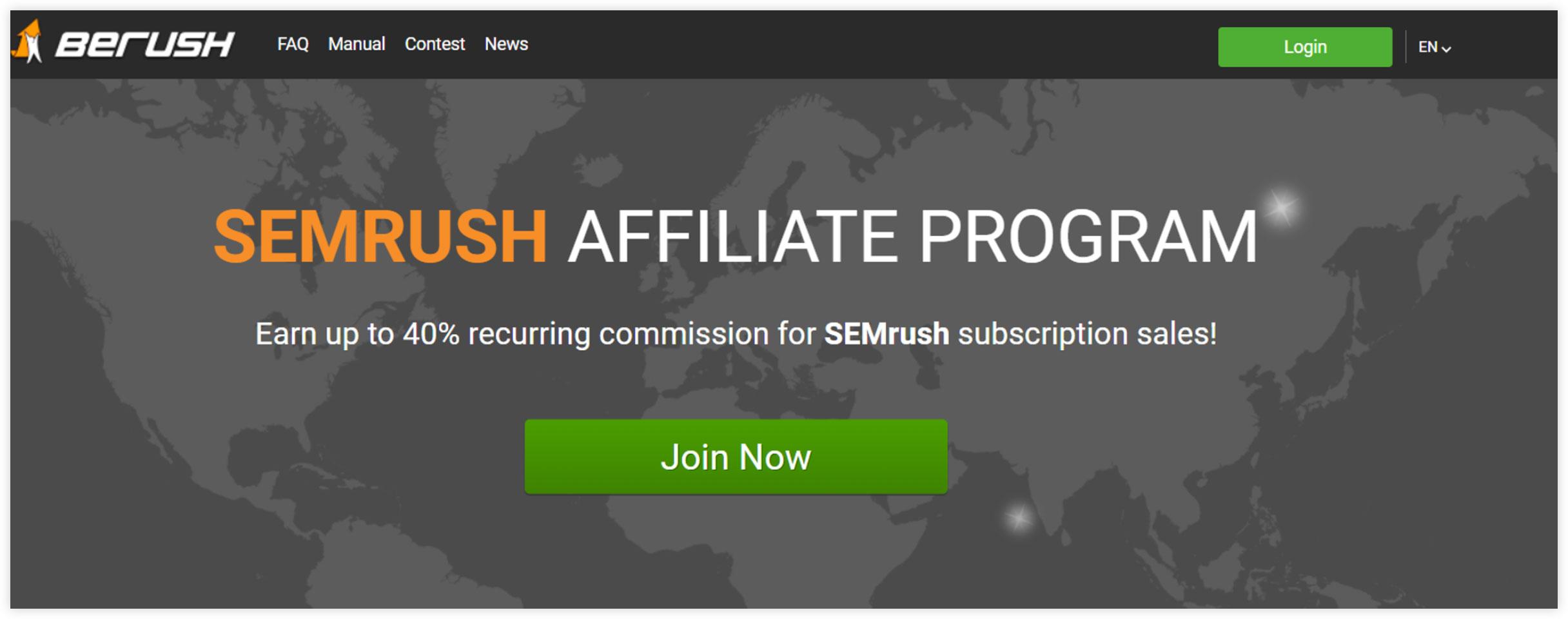 Affiliate Marketplace - SEMRush