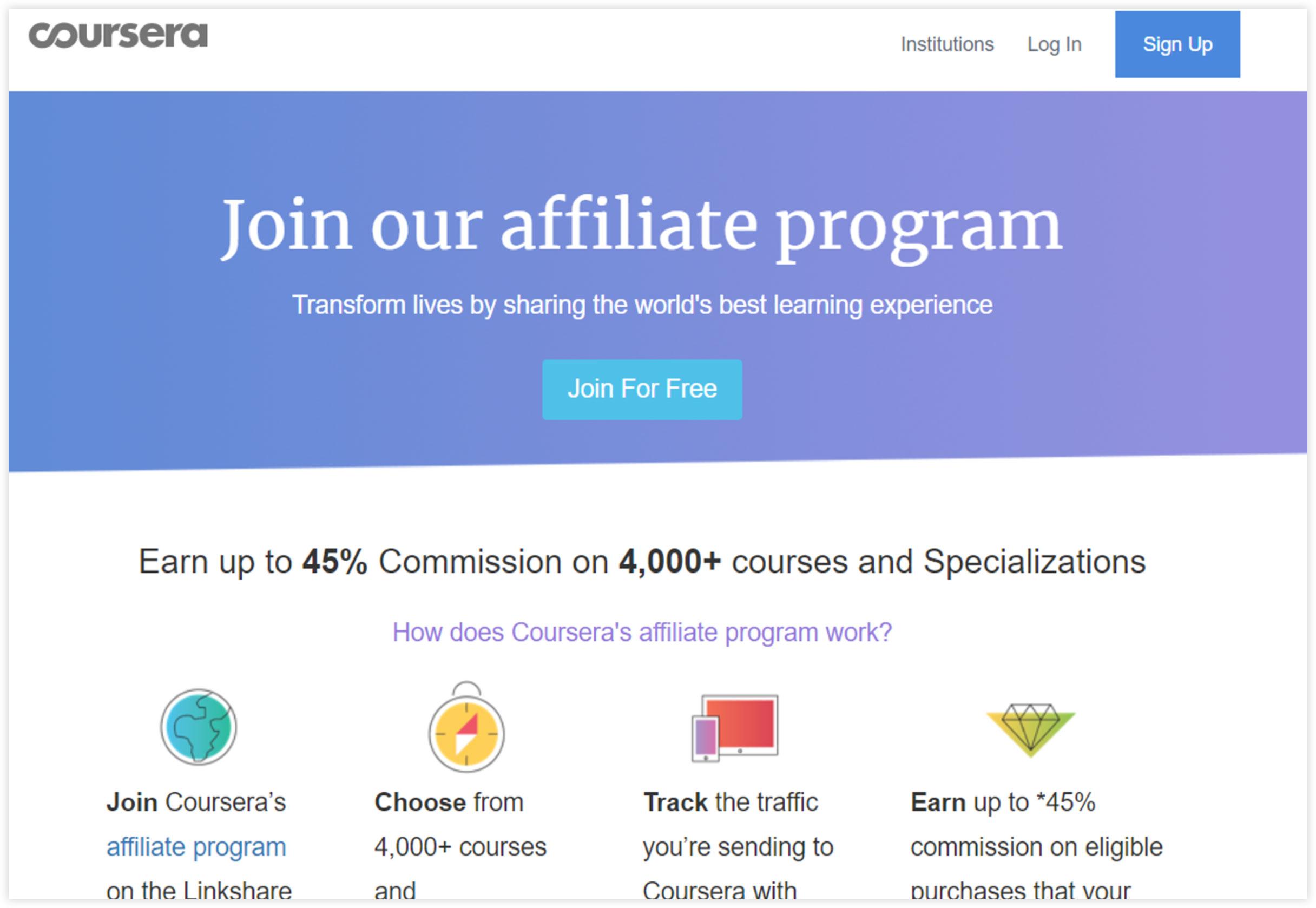 Affiliate Marketplace - Coursera