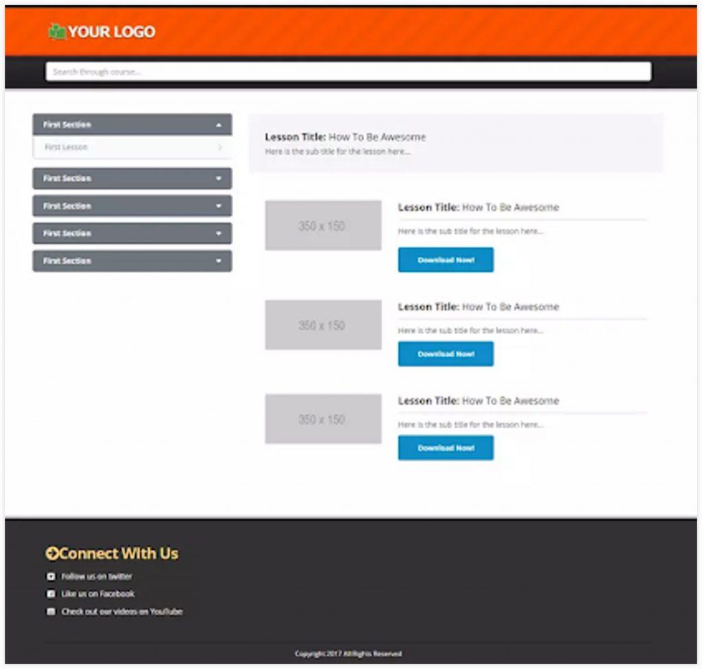 ClickFunnels Membership Funnel Template Membership Home page