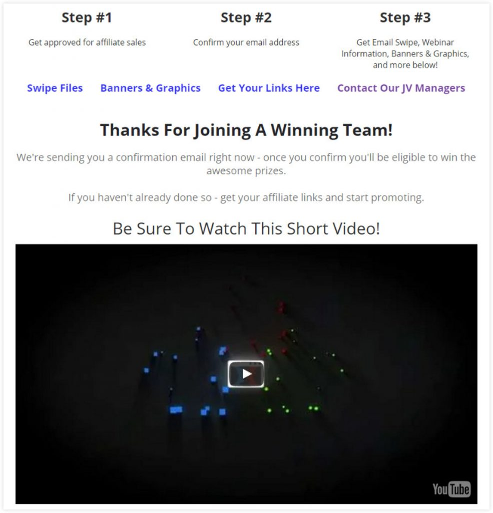 ClickFunnels Video Sales Letter Template Thank You Page
