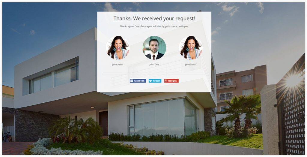 Real Estate Opt-in Sales Funnel Thank You Page Template