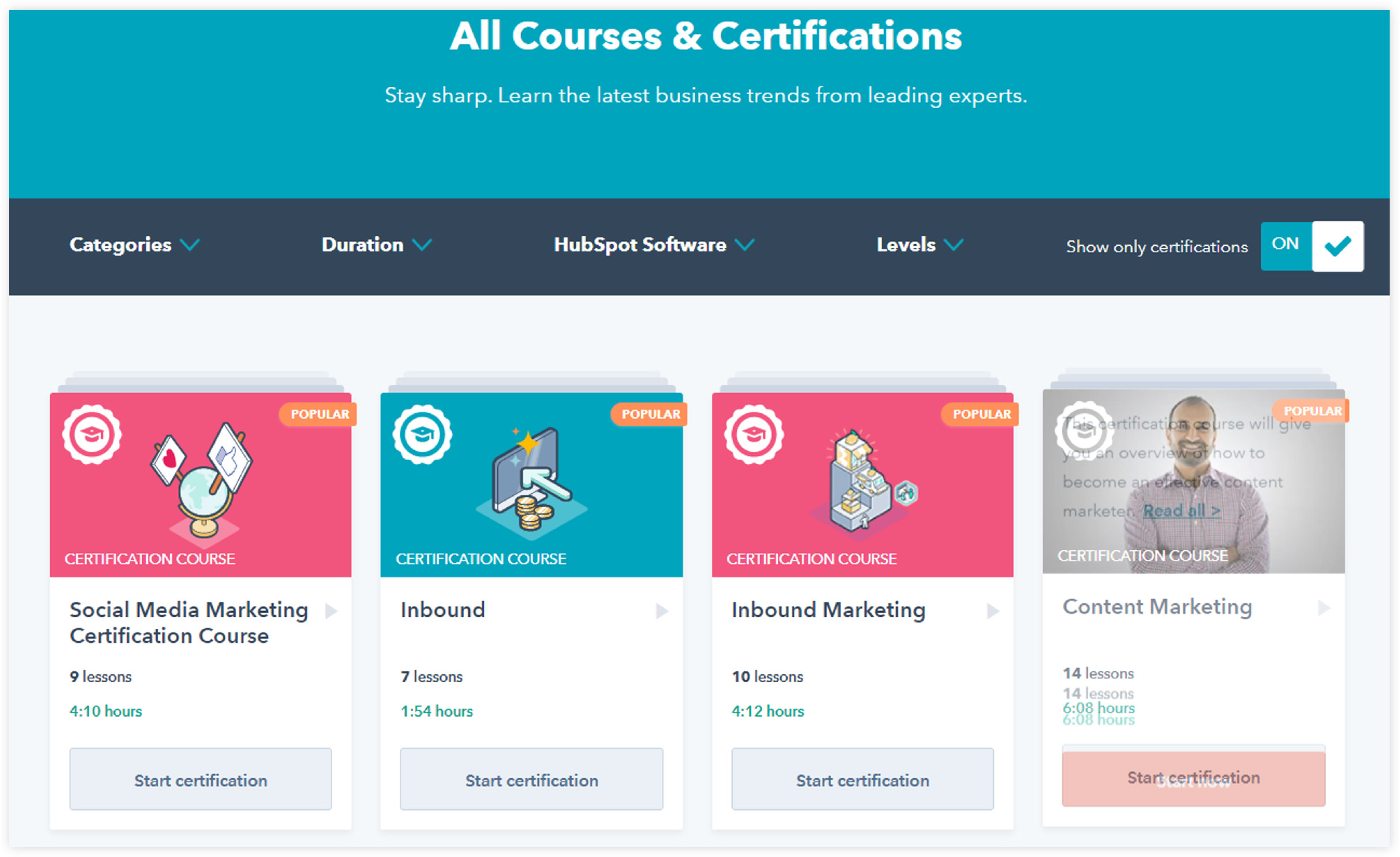 hubspot digital marketing courses