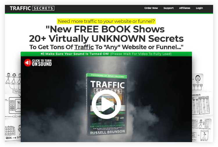 Example of a free book offer opt in page