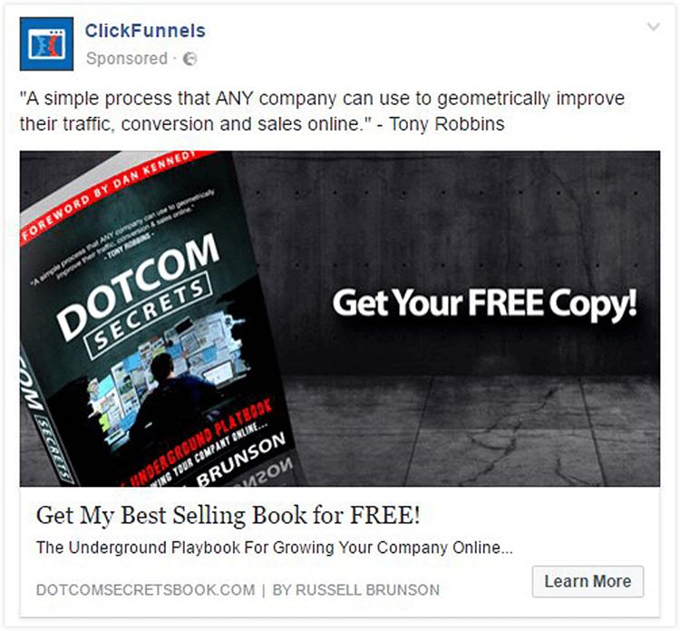 clickfunnels facebook ad