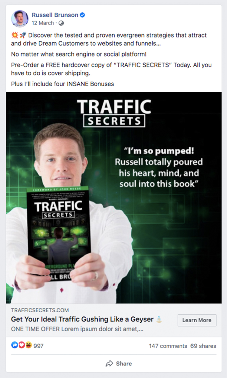 russell brunson facebook ad