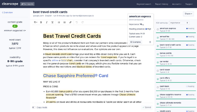 writing blog post about best travel credit card