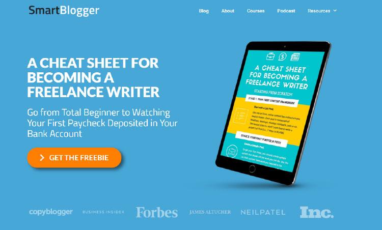 freebie offer from jon morrow's smartblogger site