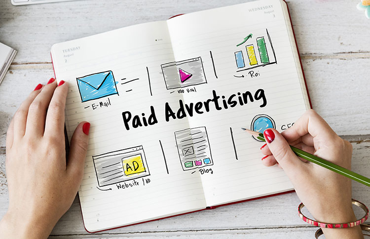 paid advertisement drawing