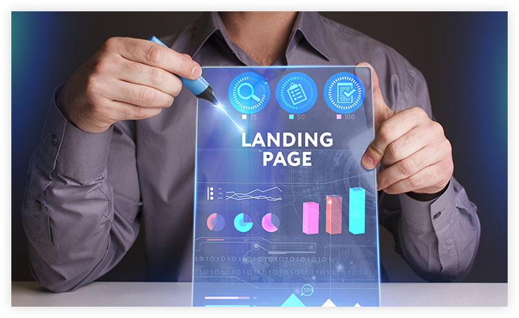 digital diagram of landing page