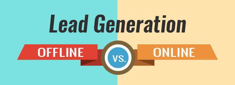 offline vs online lead generation