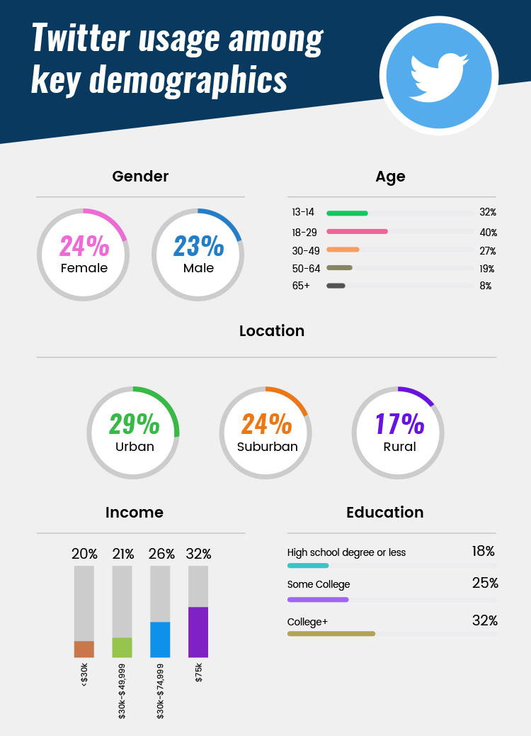 gender age and location based twitter user statistics
