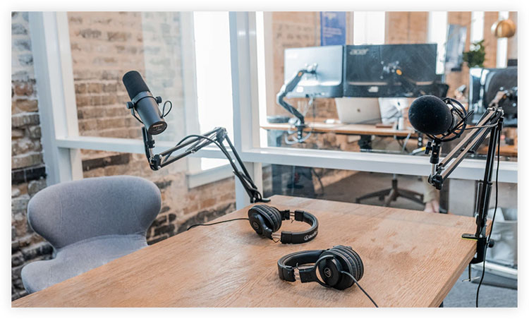 studio setup for webinar