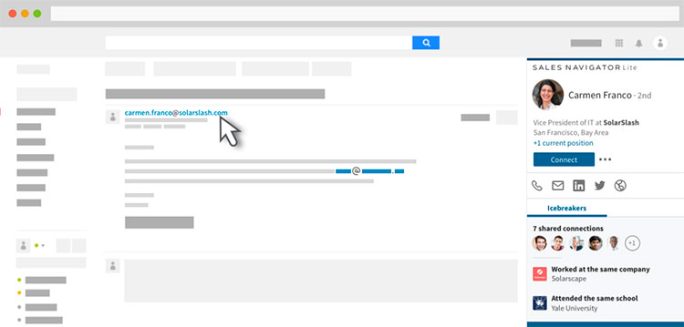 linkedin sales navigation interface