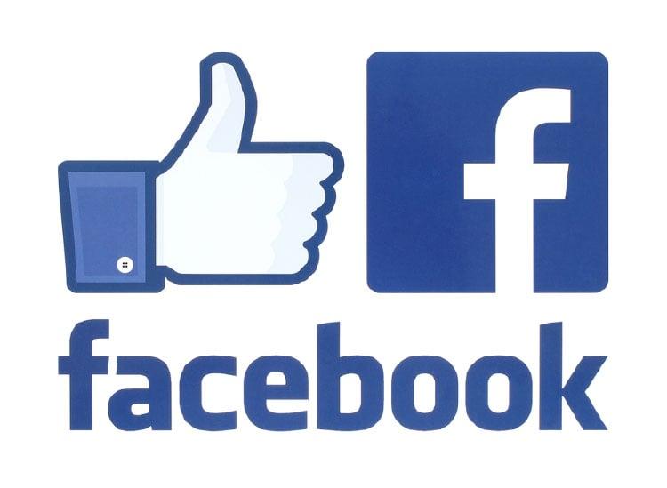 facebook logo and like emoji