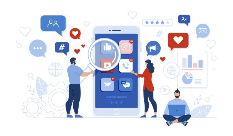 social media promotion illustration