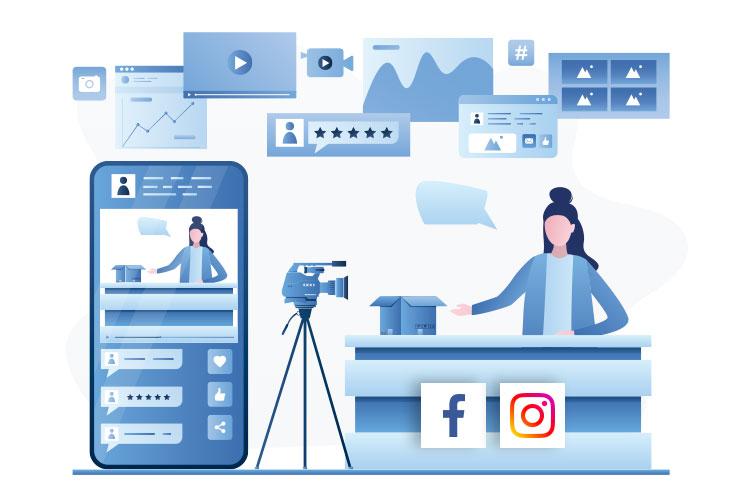 live stream content creation illustration