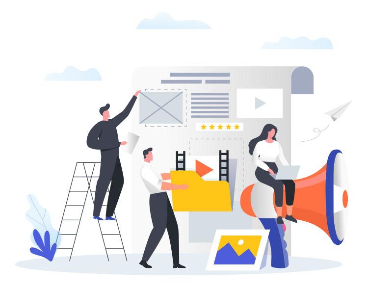 content curation illustration