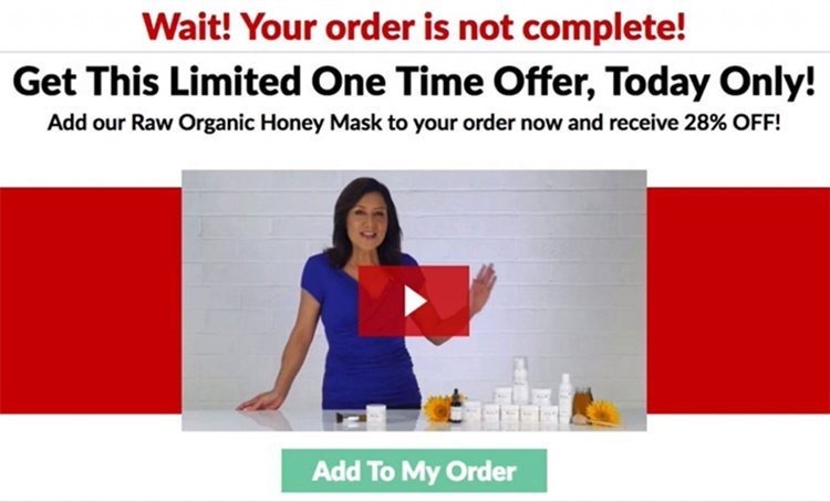 one time offer page