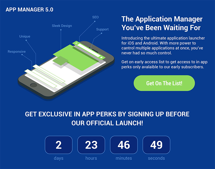 app manager squeeze page