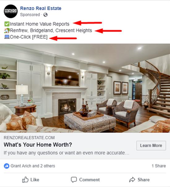 real estate facebook image ad