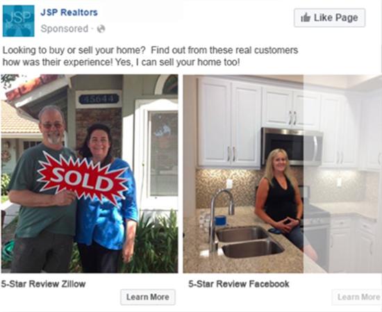 real estate facebook carousel ad