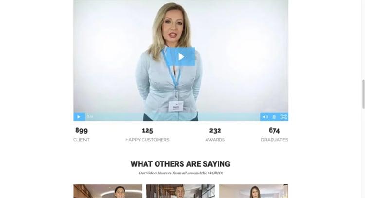 testimonial videos on VideoMastery.com